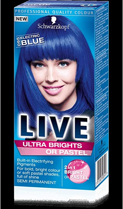 Schwarzkopf Live Ultra Brights or Pastel - Electric Blue 95 ...