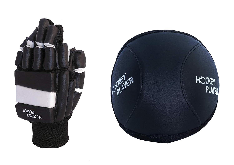 HOCKEYPLAYER Pack de Guantes y Rodilleras de Jugador de Hockey Sobre Patines de Ruedas en Paralelo Modelo Eco Vinilo: Amazon.es: Deportes y aire libre