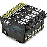 OfficeWorld Cartucce Compatibili Sostituzione per T1631 Cartucce d'inchiostro Alta Capacità Compatibile per Workforce WF-2010W WF-2510WF WF-2520NF WF-2530WF WF-2540WF WF-2630WF WF-2650DWF WF-2660DWF WF-2750DWF, 6 Nero