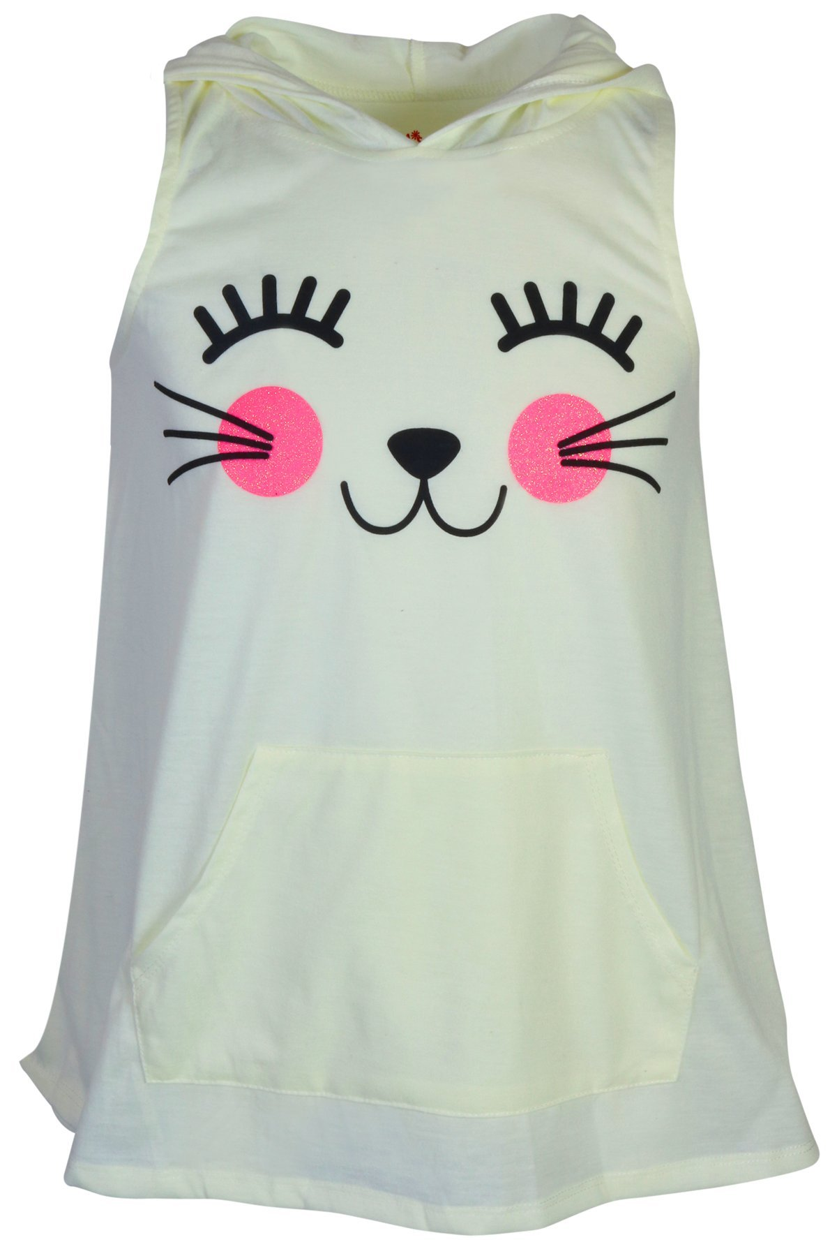 dELiAs Girl's Sleeveless Summer Pajama Short Set With Animal Character Hood, Cat, Size 14/16' by dELiA*s (Image #3)