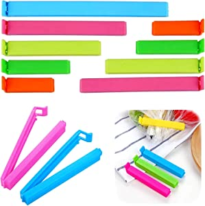 VEYLIN 27Pcs Plastic Sealing Clips, Fresh-Keeping Clamp Sealer for Food Snack Bags