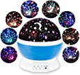 DEALCROX Rotating LED Star Moon Night Lamp - Multicolour