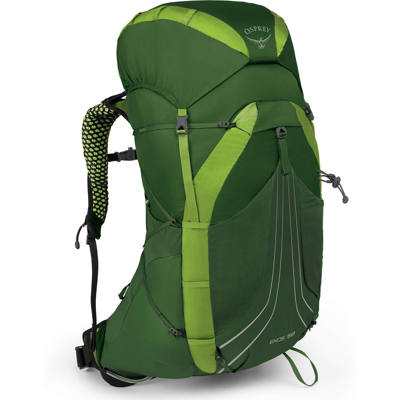 Osprey Packs Exos 58 Backpacking Pack, Tunnel Green, Medium