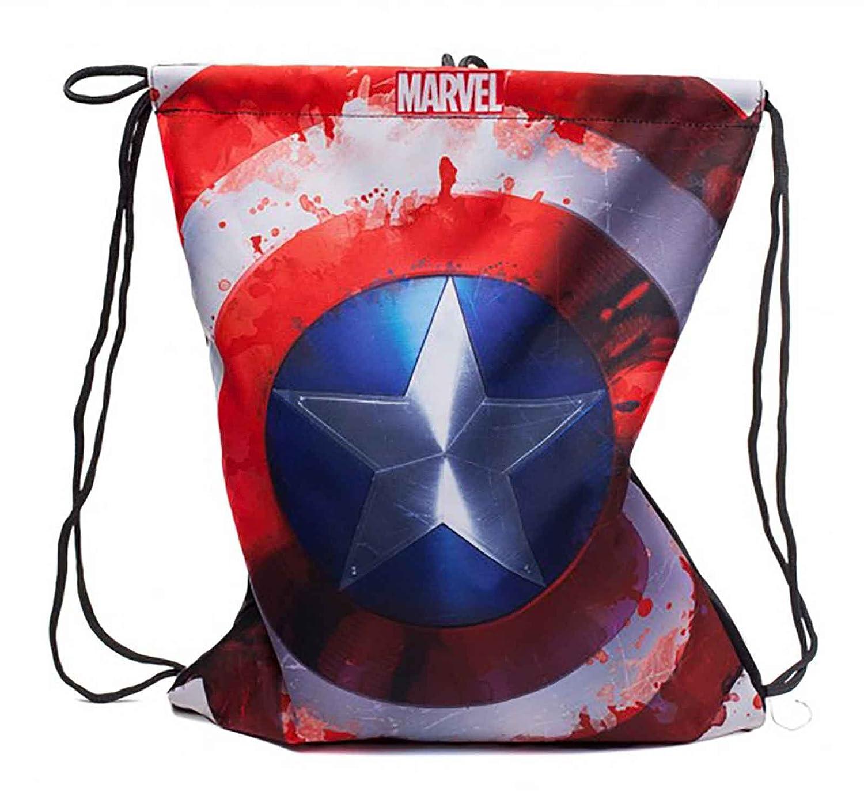 Captain America Gym Bag Captain America Shield Logo Official Marvel Red Marvel Merch