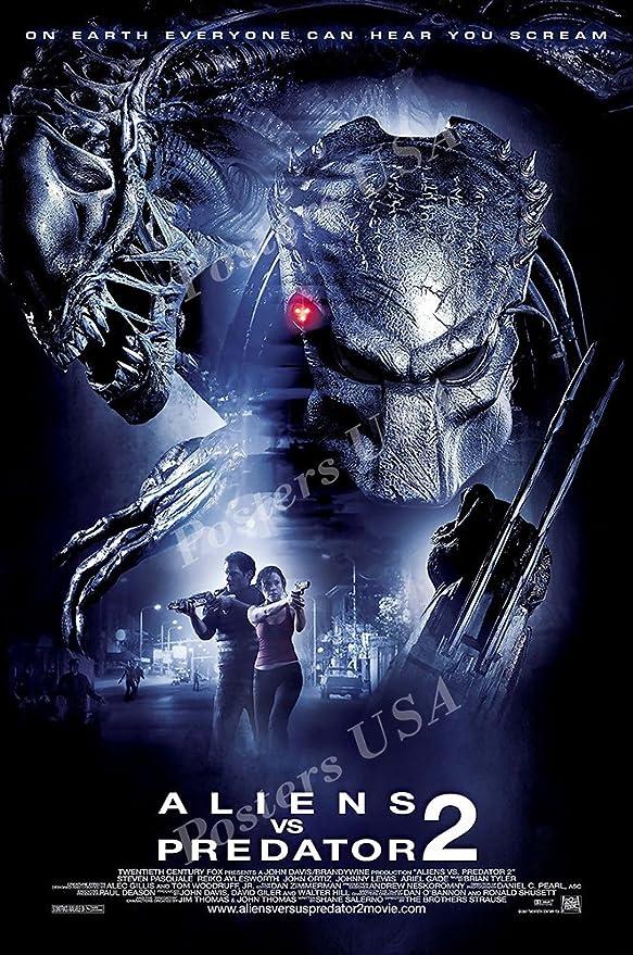 Posters USA MOV784 Predator 2 Alien Movie Poster Glossy Finish