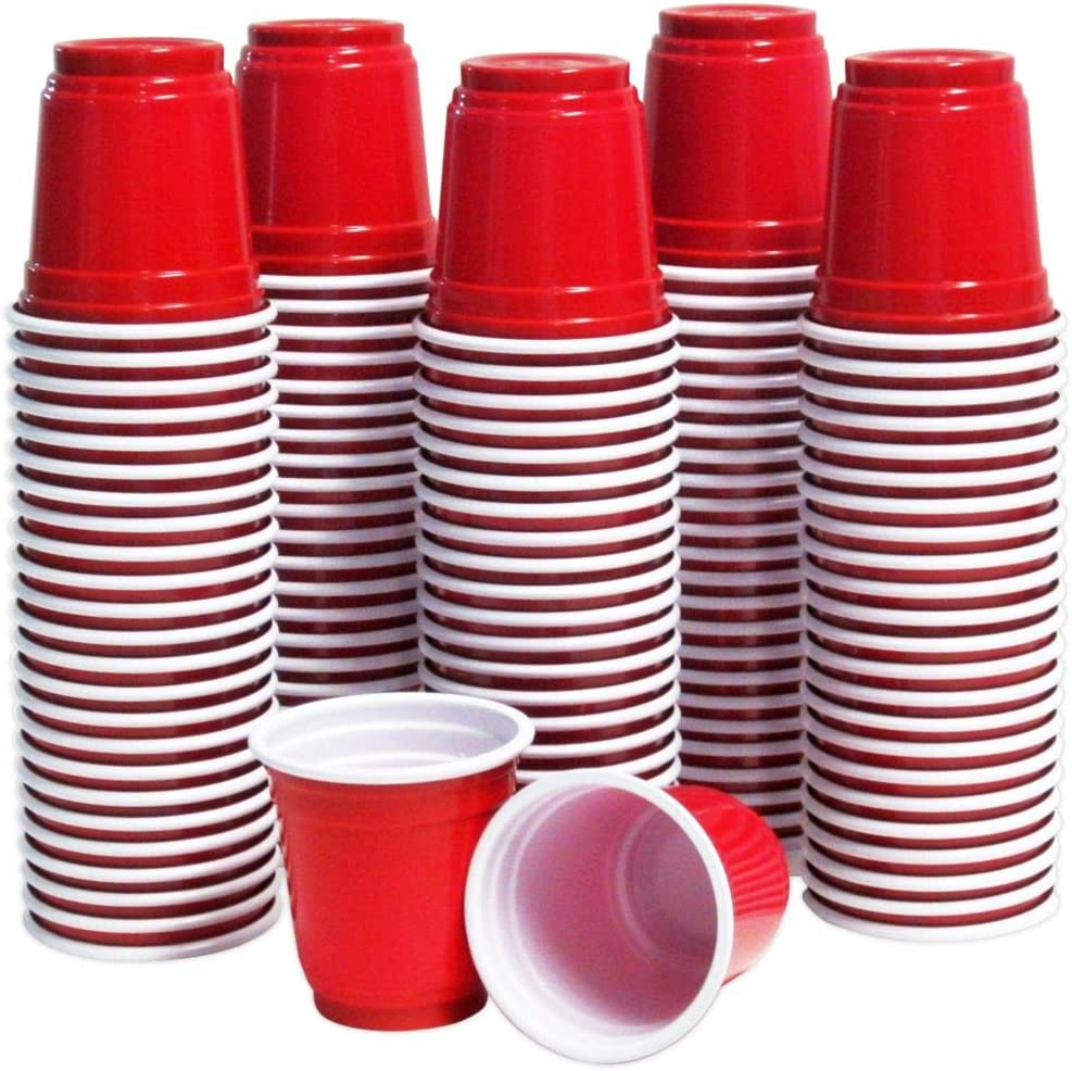 Impresserve Disposable Shot Cups Tastings /& Samples Cocktails 2 Ounce Mini Red Party Plastic Glasses for Beer Pong Whiskeys Rum Gin 120 Piece