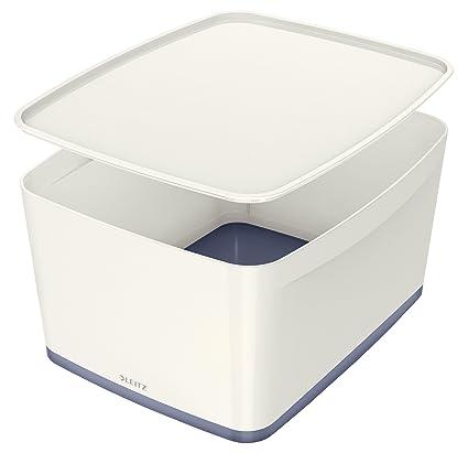 Hervorragend Leitz MyBox, Aufbewahrungsbox mit Deckel, Groß, Blickdicht, Weiß DT18
