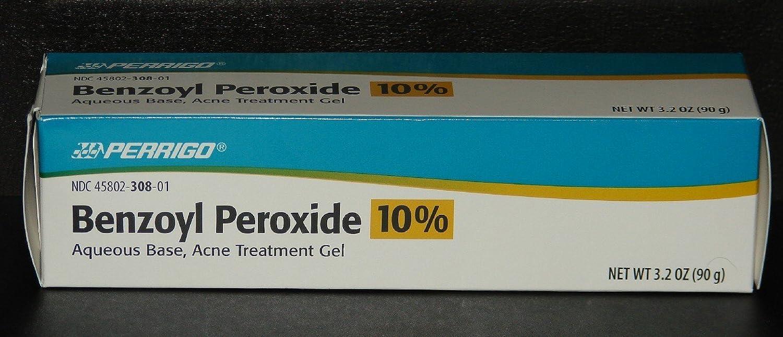 Perrigo 10% Benzoyl Peroxide Acne Treatment Gel 90gm Tube