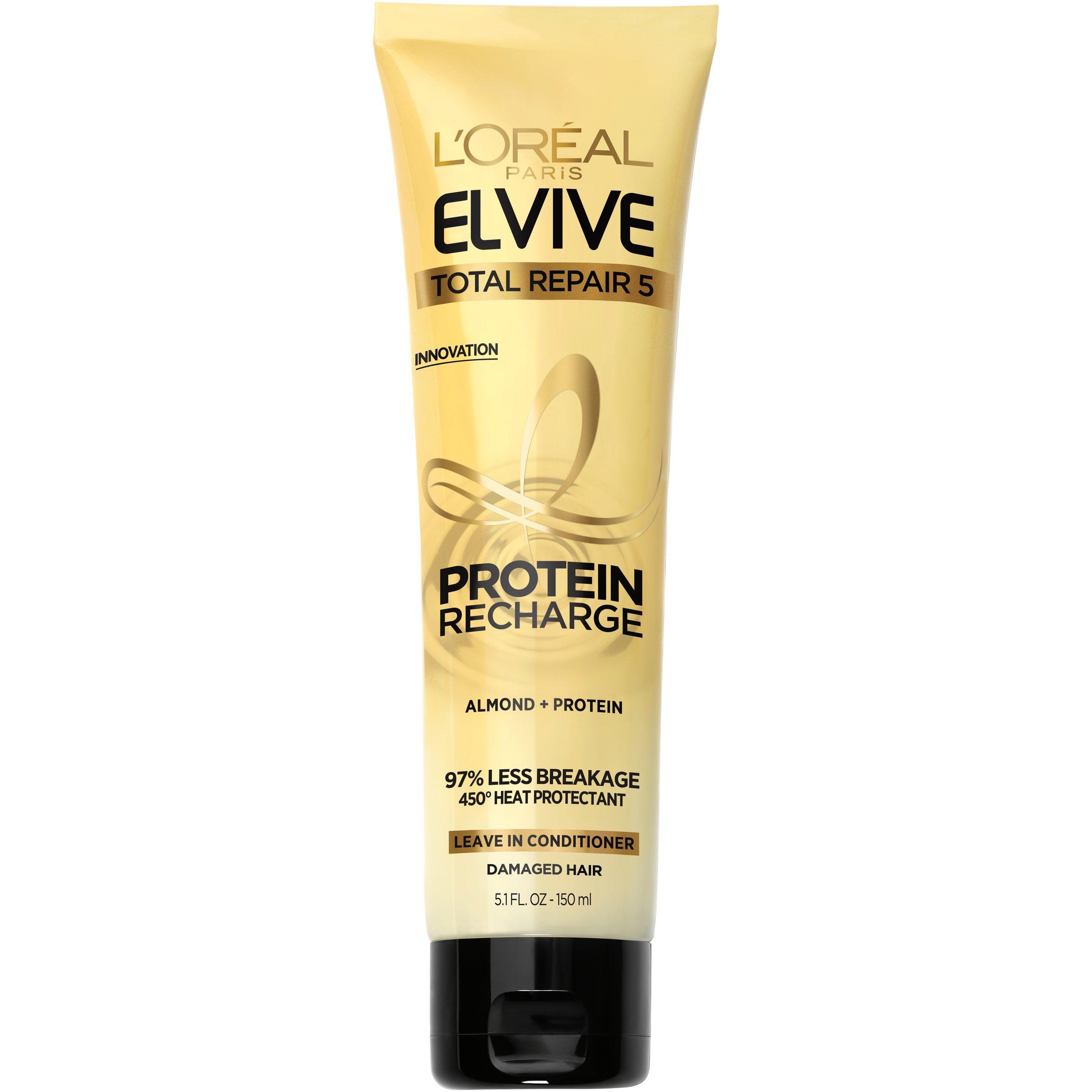 L'Oréal Paris Elvive Total Repair 5 Protein Recharge Treatment, 5.1 fl. oz. (Packaging May Vary)