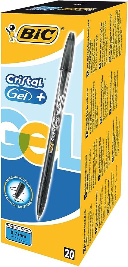 BIC 919235 - Pack de 20 bolígrafos Bic cristal gel: Amazon.es ...
