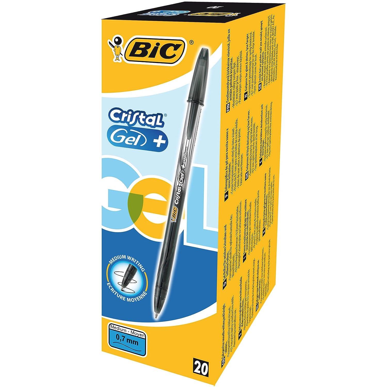 Bic Cristal Gel + Penna Gel Punta Fine 0,7 mm Confezione 20 Penne Colore Blu 8438852