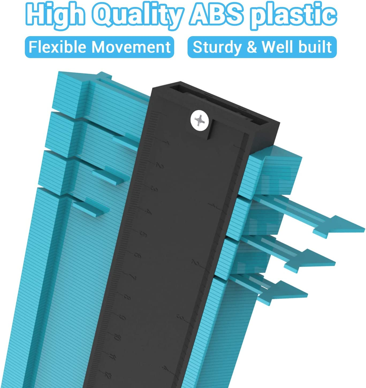 10 Inch Profile Gauge Measure Ruler Contour Duplicator for Precise Measurement Tiling Laminate Wood Marking Tool for Perfect Fit and Easy Cutting Asgens Plastic Contour Gauge Duplicator