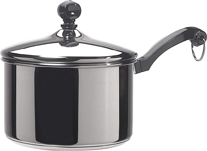 Farberware Classic Stainless Steel 2-Quart Covered Saucepan - 50002 - Silver