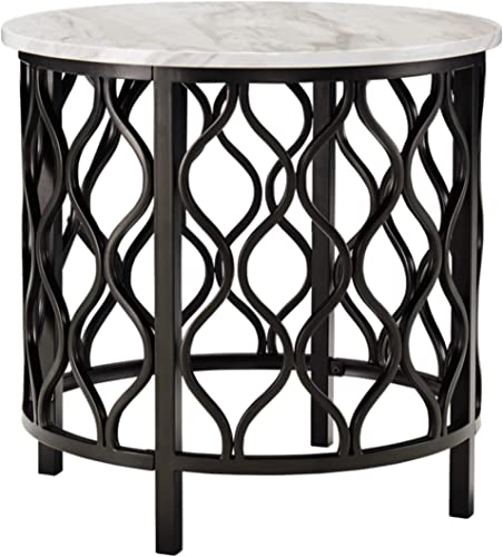 Signature Design by Ashley – Trinson End Table, Faux Marble