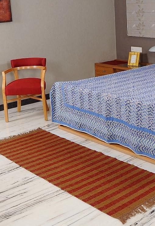 Traditional Area Rug-Designer Handmade Yoga Wool Jute Mat ...