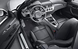 PUREMATS Front Mat Accessories Set Compatible with Alfa Romeo Giulia Quadrifoglio - All Weather - Heavy Duty - Custom Fit - (Made in USA) - Crystal Clear - 2017, 2018, 2019, 2020