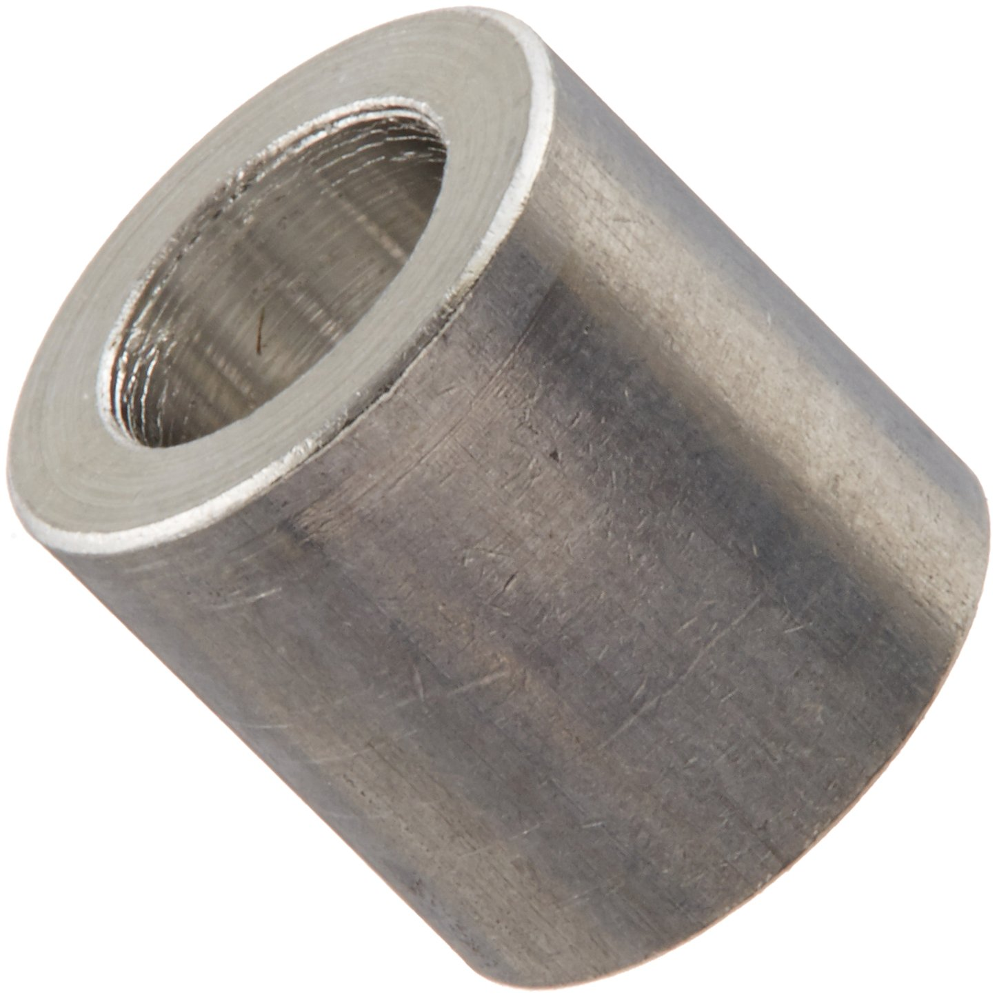 Pack of 25 Pack of 25 Plain Finish Small Parts 140406RSA 0.14 ID 1//4 OD Round Spacer 1//4 Length Aluminum 1//4 OD 0.14 ID 1//4 Length #6 Screw Size