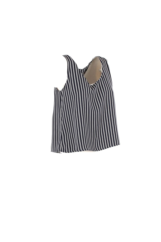 YES-ZEE Top Donna S Blu T253 Ed00 Primavera Estate 2018