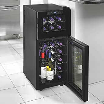 Amazon.com Wine Enthusiast 272 03 19 05 Silent 21 Bottle Dual Zone Touchscreen Wine Cooler Black Appliances : wine enthusiast wine cellar  - Aeropaca.Org