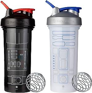 SCS Direct BlenderBottle Star Wars Pro Series Shaker Bottle 28 oz, 2-Pack, R2D2 and Darth Vader Suit