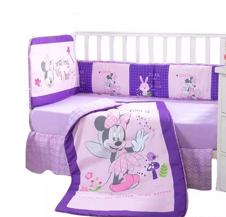 Minnie Mouse Disney Crib Bedding Set Sheets 5PC Comforter Bumper Guard HeadBoard Bear LIMITED EDITION