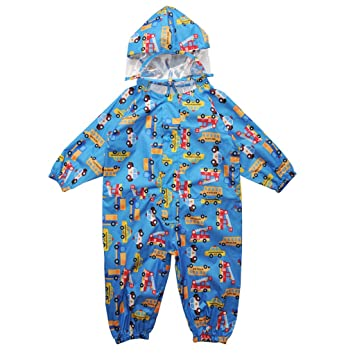 Amazon.com: Vine de una pieza traje de lluvia overol bebé ...