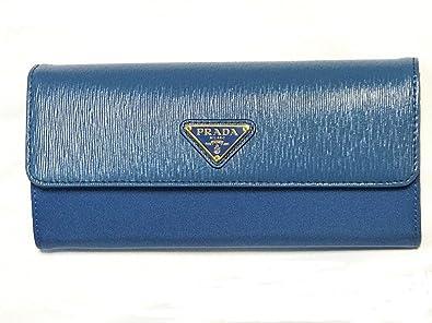 5409ca8c6eac (プラダ)PRADA メンズ レディース 長財布 新品 ブルー パスケース付 1MH037 [並行