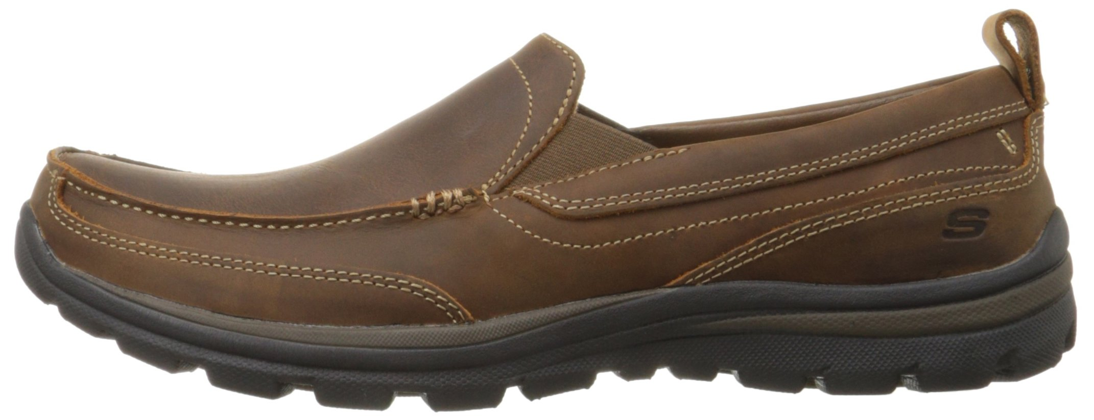 e56fda4c7425cf Skechers USA Men's Relaxed Fit Memory Foam Superior Gains Slip-On,8 M  US,Dark Brown - 63697-CDB < Loafers & Slip-Ons < Clothing, Shoes & Jewelry  - tibs