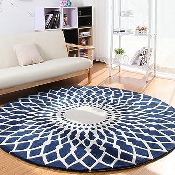 Amazon.de: Qiaoquanbao &Europäischer Teppich Runder Teppich ...