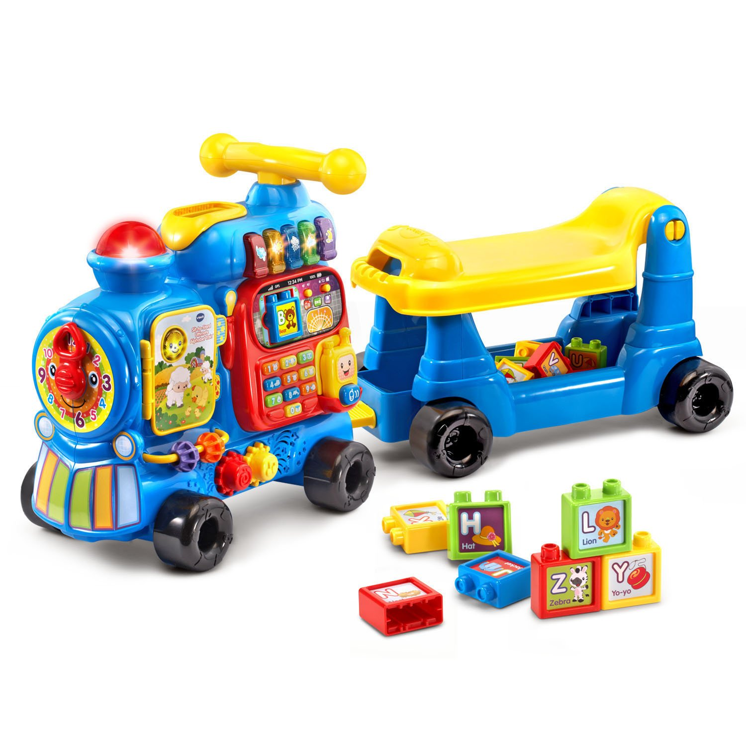 VTech Sit-to-Stand Ultimate Alphabet Train Amazon Exclusive, Blue by VTech (Image #2)