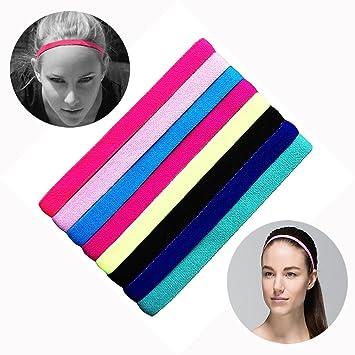 5a695ddd2a0b86 HOCAIES Sport Haarband Yoga Fussball Stirnbänder Bunte Serie Satz von 8 er  Diverse