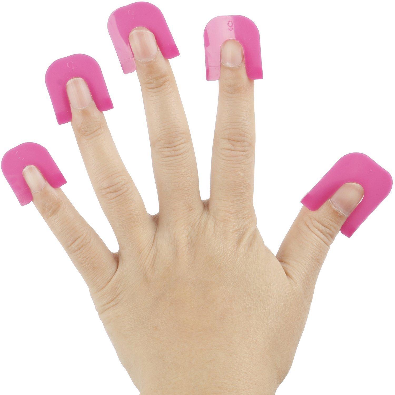 TRIXES 26 rosa Kunststoff Schablonen zum akkuraten Auftragen von Nagellack French Maniküre Nail Polish
