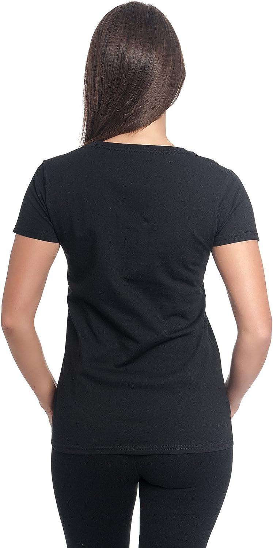 Lilo /& Stitch Disney T-Shirt Femme No Adulte Aujourdhui Coton Noir