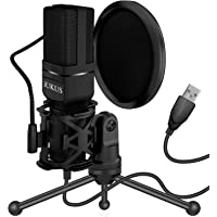 IUKUS USB Microphone, PC Microphone USB Condenser Recording Gaming Mic with Stand & Filter for iM@c PC Laptop Desktop…