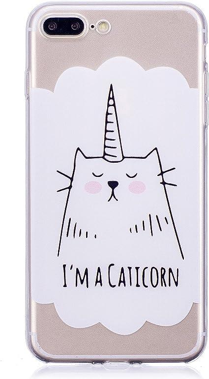 Cover iPhone 7 Plus, CXTcase Custodia iPhone 8 Plus Gatto Carine ...