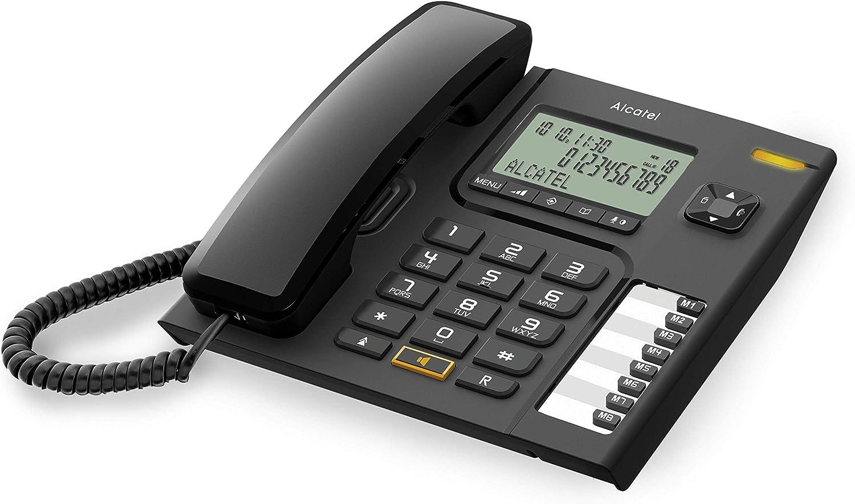 Alcatel T76 - Teléfono de sobremesa (inalámbrico, Manos Libres) Color Negro: Amazon.es: Electrónica