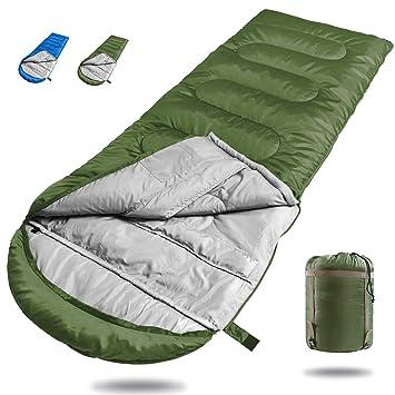 Dreamsbox Saco de Dormir de 3 Estaciones,Saco de Dormir Ultra Ligero Multifuncional,210 x75cm,con un Saco de compresión liviano,para Acampada ...