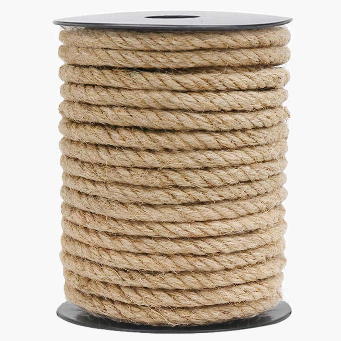 HOMYHOME Jute Rope Natural Jute Twine 10 mm Rope Cord Craft for Packaging Arts,Crafts Decoration Bundling Gardening Home 32 Feet