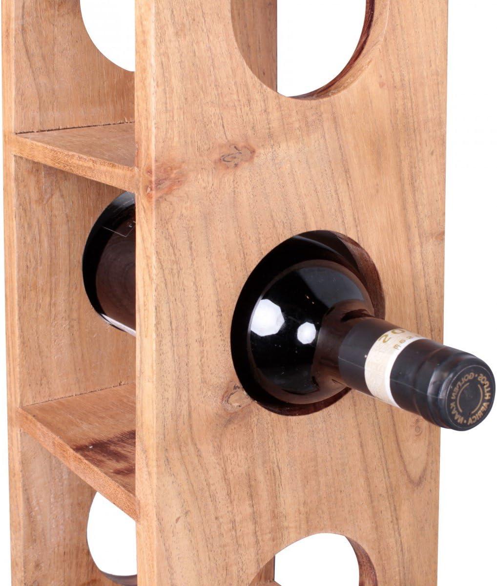 Range Bouteilles vin pour Le Mur FineBuy casier /à vin Bois Massif Porte-Bouteilles de vin Acacia 15 x 70 x 15 cm Casier /à Bouteilles pour 5 Bouteilles