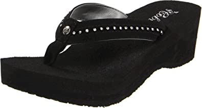 a0bf3129b Cobian Women s Tiffany Wedge Flip Flop Black 9 ...