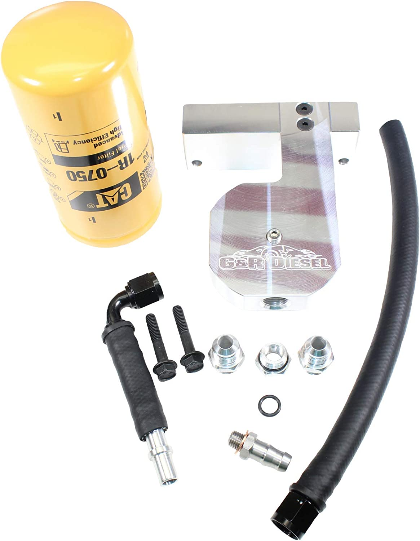 Amazon.com: G&R Diesel CAT Fuel Filter Conversion Kit Compatible with  2010-2018 Ram 6.7L Cummins 6.7: Automotive | Aftermarket Fuel Filter |  | Amazon.com