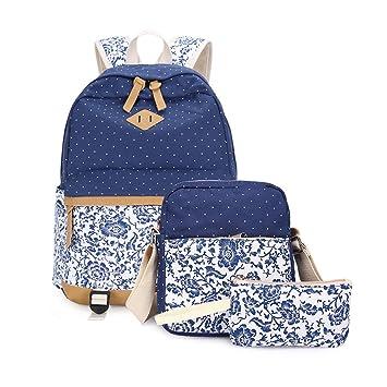 Umily Mochilas Escolares Mujer Backpack Mochila Escolar Lona Grande Unisexo Bolsa Casual Juvenil Chica: Amazon.es: Equipaje