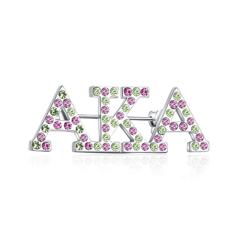 POTIY AKA Sorority Gift Alpha Kappa Alpha Clip-on Charm Jewelry AKA Graduation Gifts Paraphernalia AKA Sisters Gift