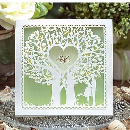 amazon com wishmade wedding invitation cards 20 sets tree heart