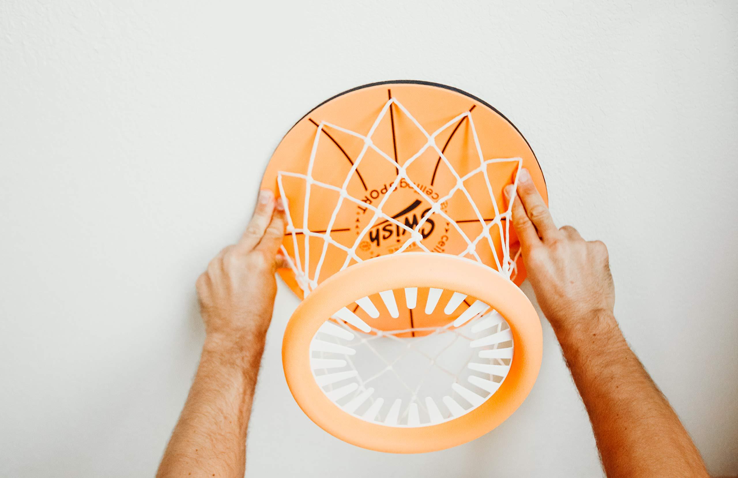 Ceiling Sport: Indoor Mini Basketball Hoop for Kids Toy Game - Includes Basketball Net Backboard and Mini Basketball by CEILING SPORT