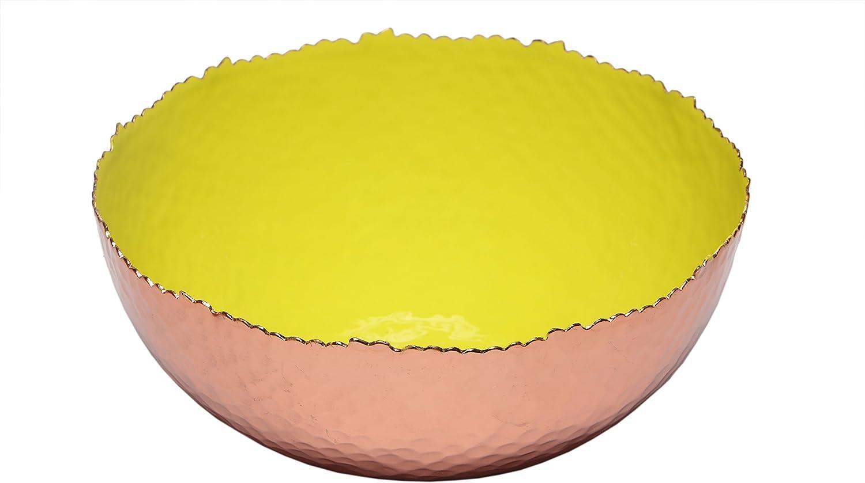 Melange Home Decor Copper Collection, 9-inch Bowl, Color - Lime Green