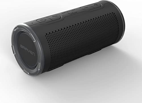 Braven BRV-360 – Waterproof Portable Speaker – Bluetooth Wireless Technology – 360 Degree Speaker – Black