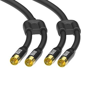 HDGear Premium Cable de Audio con Conectores Dorados