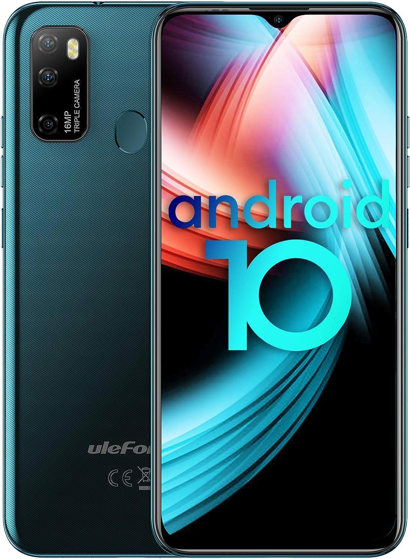 Smartphone, Ulefone Note 9P Móviles Libres 4G 4GB 64GB Android 10, Teléfono Móvil 6.52 Inch FHD,AI Triple Cámara 16MP,4500mAh Smartphone Libre, Face ID& Huellas Dactilares,[Verde,Versión Global]