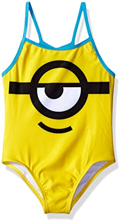b3079373d61ee Despicable Me Girls Minion Girls Swimsuit One Piece Swimsuit - Yellow -:  Amazon.co.uk: Clothing